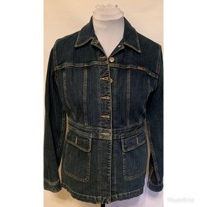 Liz Claiborne Seamed Denim Jeans Jacket Medium